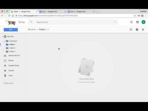 Moving Google Docs into Folders