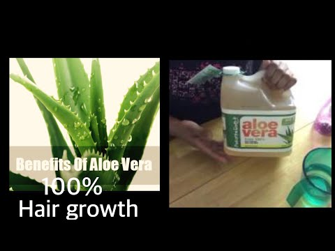 Aloe Vera juice for hair growth|healthier thicker hair FAST