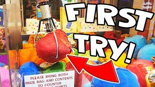 I WON A MYSTERY BAG FIRST TRY! || Lucky Leo