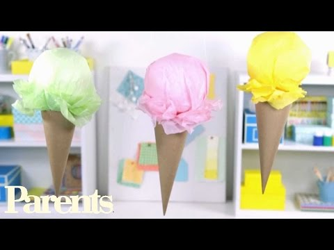 Party Decorations Ideas -- Easy Ice-Cream Craft | Parents