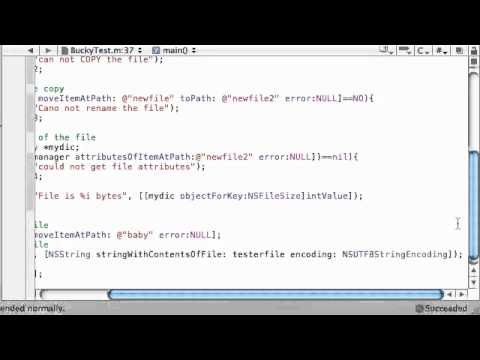 Objective C Programming Tutorial   63   Deleting and Printing Files   YouTube