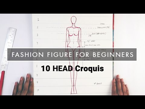FASHION ILLUSTRATION TUTORIAL for beginners: 10 HEAD figure