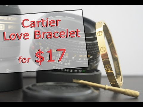 $17 Cartier Love Bracelet from DHgate