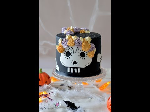 Day of the dead halloween cake quick video tutorial