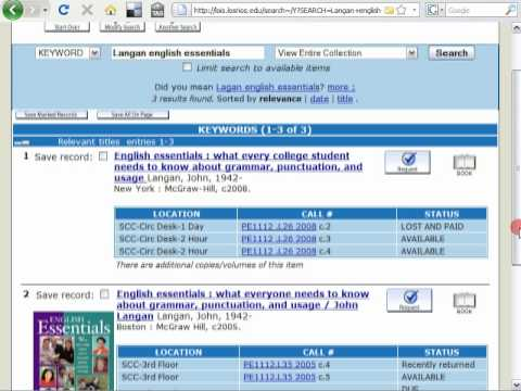 Find Your Textbooks in the Library (keyword search)
