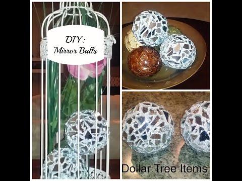 DIY: Mirror Balls  - Dollar Tree Mirrors