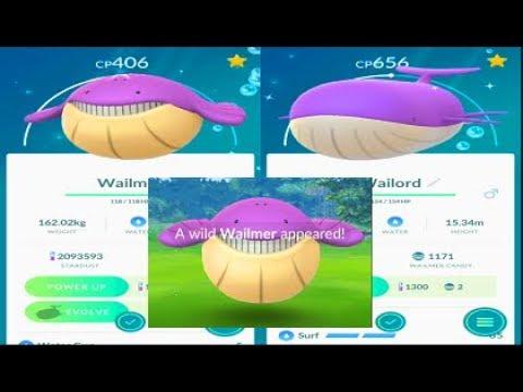 Pokemon Go Shiny Wailmer Catch - Shiny Wailord Evolution
