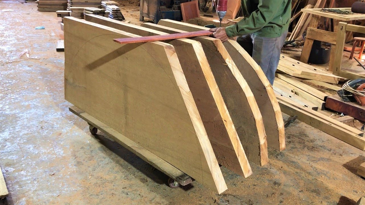 Modern Woodworking Machines & How Ingenious Worker Build Extremely Beautiful Carved King Size Doors