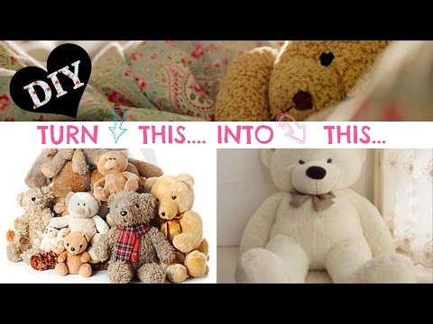 DIY NO SEW Stuffed Animal Solution - Super easy!