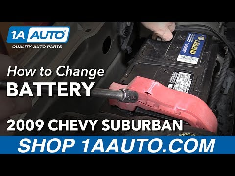 How to Install Replace Change Battery 2009 Chevy Suburban