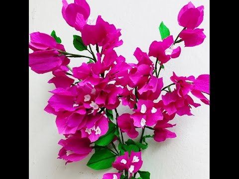 How to make Paper Flowers Bougainvillea (Flower # 72)