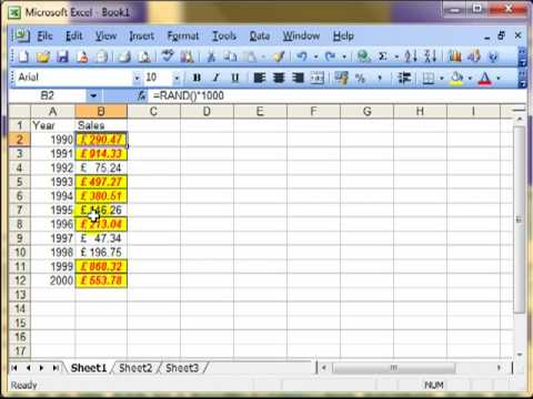 AM 4112 Conditional formatting Microsoft Excel 2003
