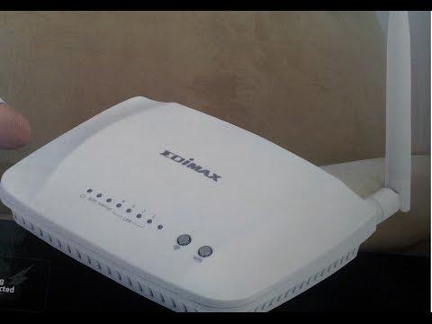 How to configure Edimax ar7188wna wifi modem