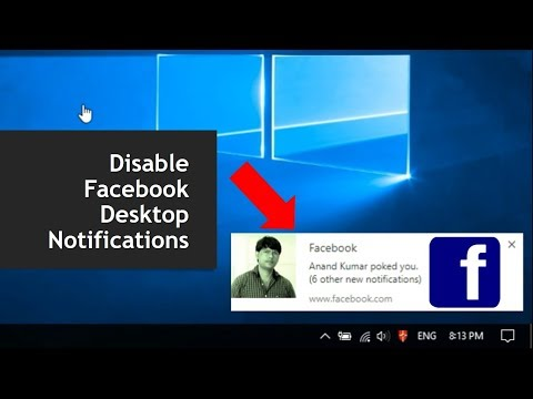 How to Disable Facebook Desktop Notifications