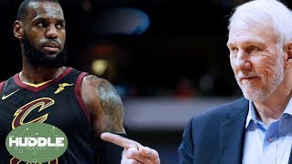 Was TNT Asking LeBron James About Coach Pop's Wife WRONG?   Huddle