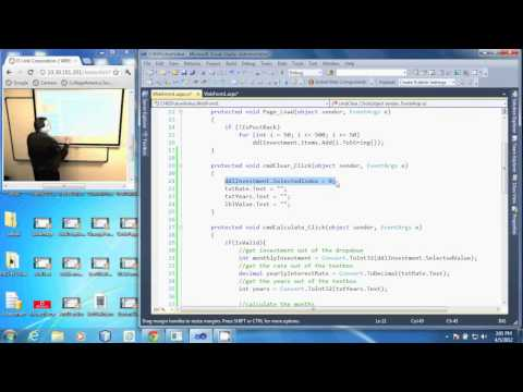 PRG 310 - Visual Studio 2010 - Code for the Clear Button