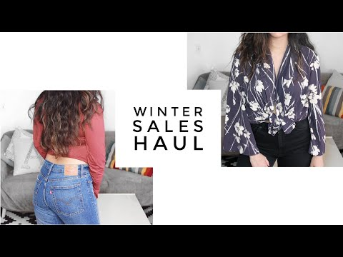 WINTER SALES Try-On Clothing Haul