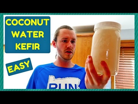 HOW TO MAKE COCONUT WATER KEFIR ~ EASY ~ PROBIOTICS