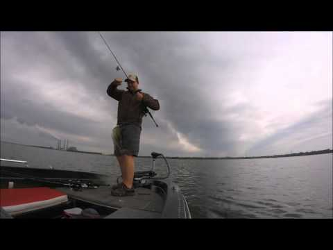 Catching big bass offshore