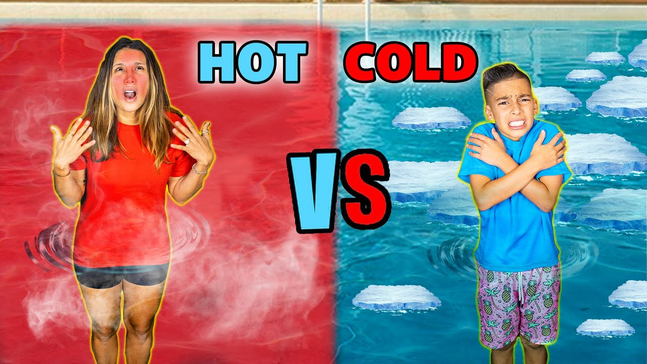 HOT vs COLD Pool CHALLENGE!! | The Royalty Family
