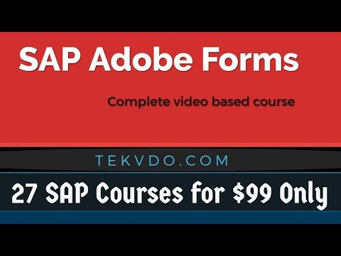 SAP Adobe Forms Training - Complete Video Based Training - Adobe Forms