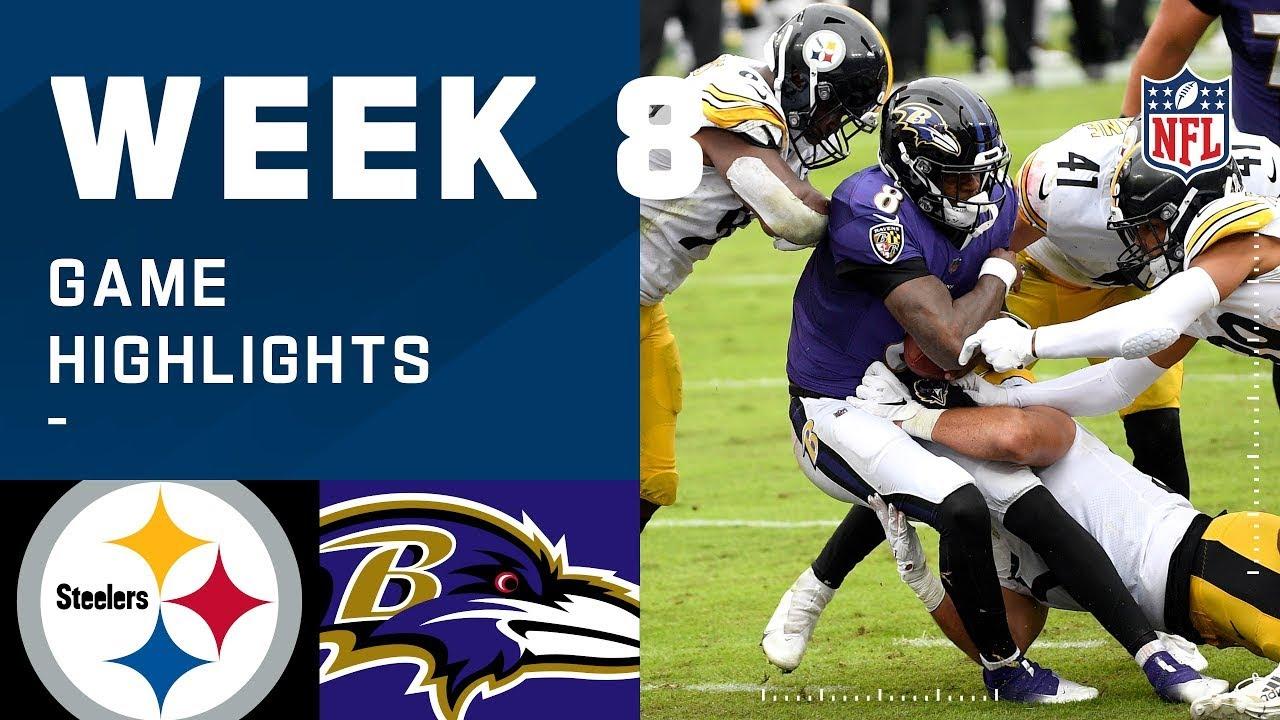 Steelers vs. Ravens Week 8 Highlights | NFL 2020