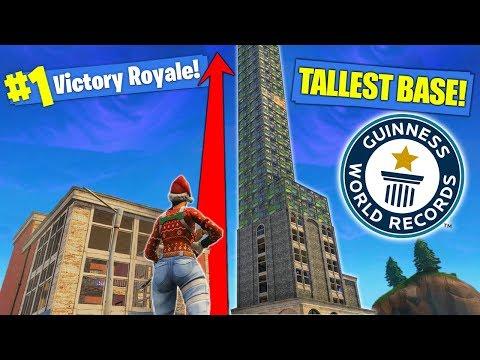 *NEW* RECORD TALLEST BASE In Fortnite Battle Royale!