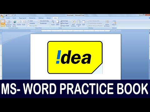 Exercise 03 | Ms Word Practice Book | How To Make Idea Hologram Logo Ms Word
