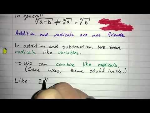 5.5.4 - Adding and Subtracting: Combine Like Radicals