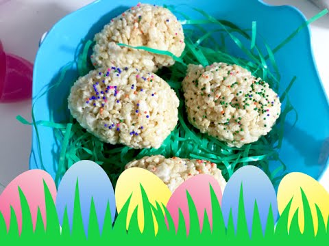 How to make Rice Krispy Easter Egg Surprise Treats!!! |My Moms Twin