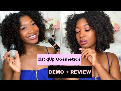 black|Up Cosmetics First Impressions + Demo | Primer, Concealer, Highlighter &  Foundation for WOC