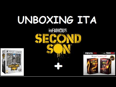 Unboxing Collector edition Infamous second son + pre-order kit PS4 ITA