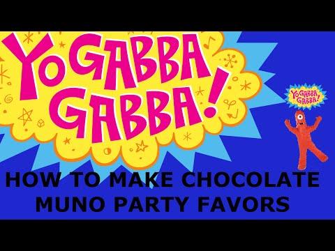How to Make Chocolate Covered Pretzel rods Yo Gabba Gabba MUNO