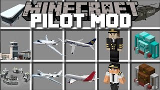 Minecraft PILOT MOD / FLY PLANES IN THE MINECRAFT AIRPORT AS A PILOT!! Minecraft