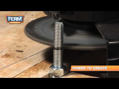 Cutting threaded bolts with an angle grinder