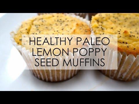 Healthy Paleo Lemon Poppy Seed Muffins