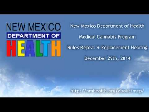 Medical Cannabis Program Rules Repeal & Replacement Hearing