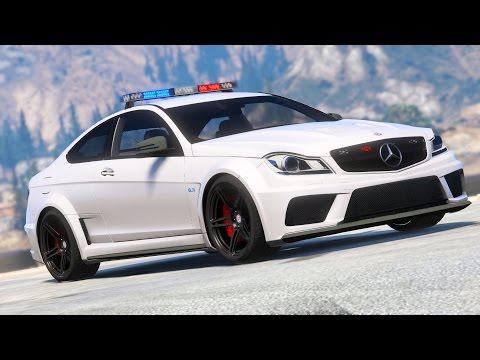 Police Mercedes C63 AMG GTA 5 Car Mod