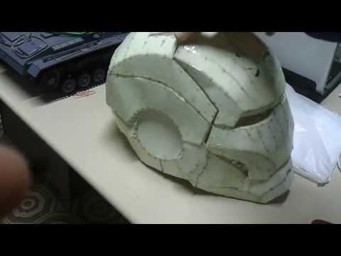 Iron man helmet pepakura RESIN & FIBERGLASS