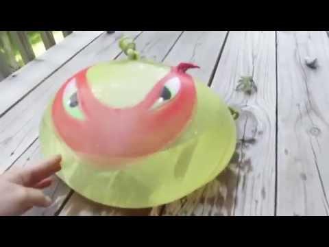 Humongous TMNT Water Balloon! 1 Gallon of Water - Ninja Turtles Water Balloon Toy 2014