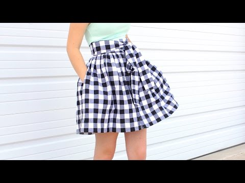 How to sew Pockets into a skirt or dress