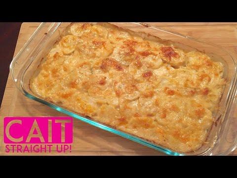 French Onion Potatoes Au Gratin | Homemade Scalloped Potatoes Recipe | Cait Straight Up