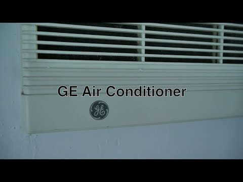 GE Window Air Conditioner Mounted in Room Wall as Cheap Alternative to Ductless or Central Air Units