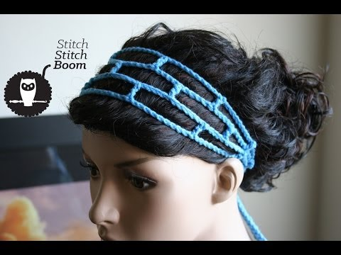 Crochet Tutorial: Mesh Headband (Great for beginners!)
