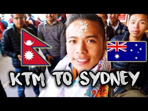 KATHMANDU TO SYDNEY, AUSTRALIA | SAYONARA NEPAL