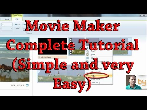 Movie maker Complete Video editing tutorials 2016: Add Title | Cut and Join | Change audio