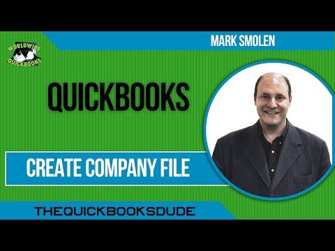 Learn QuickBooks video 2a -  Create company file in QuickBooks