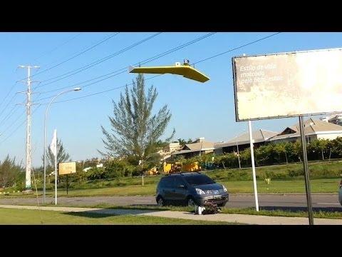 Asa Zagi 1,20m com GoPro - Delta Wing with GoPro