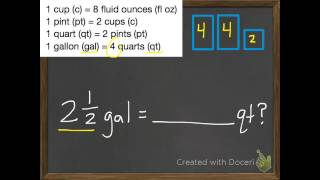 Convert Customary Units Of Capacity 11 4