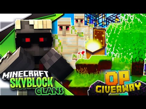 EPIC GIVEAWAY*| Minecraft PE Skyblock + Factions!?Server Let's Play#15[MCPE 1.4.0 SKYCLAN]